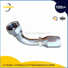 Reusable 90 Elbow Jic Female 74 Degree Flared One Piece Hydraulic Fitting (26798D-R5)