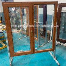 Серые раздвижные двери из ПВХ Окна с двойным остеклением