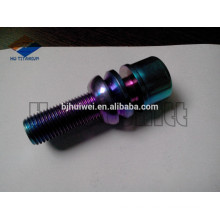 M14*1.5 torx drive head titanium wheel bolt with floating ball seat