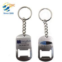 Ouvre-bouteille en métal de Keychain de cartes de visite bon marché chinois