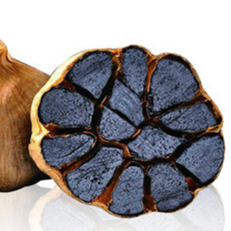 Bulbs black garlic