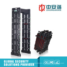 Segurança ao ar livre Multi-Alarm Zones Archway Detector de metal com bateria de backup