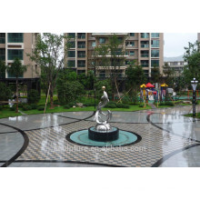 Large Modern Famous Arts Abstract Stainless steel Animal Dophin Sculpture for garden decoration