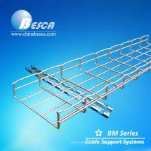 Bandeja de cabo galvanizada do tipo da rede de arame com gancho do teto (UL, cUL, CE, NEMA, IEC)