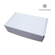 Custom made white corrugated shipping box