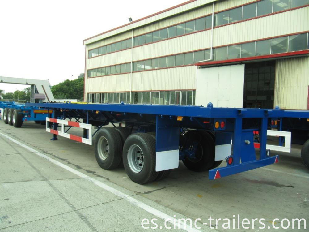 Lr 40 Two Axle Flatbed Semi Trailer