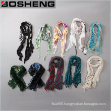 Wholesale Custom Fashion Elegant Comfortable Different Types Women Long Scarf