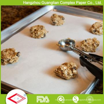 Papel de pergamino recubierto de silicona antiadherente, aprobado por la FDA, 40cmx60cm