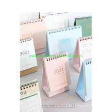 Pure Color Hot Stamp Spiral Table Calendar