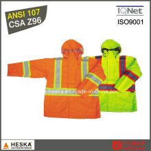 Оптовые продажи высокой видимости водонепроницаемая куртка с водонепроницаемым покрытием ПУ в 2000 мм