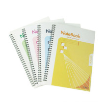 Tamanho 254 * 177mm PP Cover Spiral Book Hardcover Excerise Nootbook Office Memo Pad