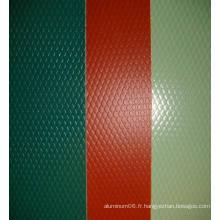 Bobine en relief en aluminium revêtue de couleur