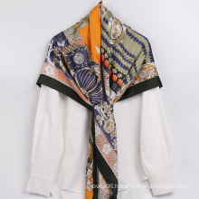 Manufacture Wholesales Polyester Silk Scarves Custom Made Tassel Pattern Turkey Hijab Scarf