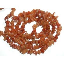 Red Aventurine Chip beads 32""