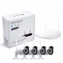 H.264 4-канальный 960P Wi-Fi Пуля CCTV IP-камера Система беспроводной NVR Kit