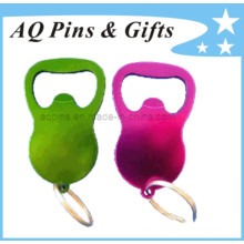 Colorful Bottle Opener with Metal Ring
