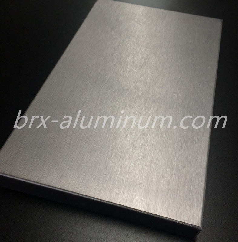 Anodized Brushed Aluminum Plate