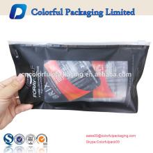 Logotipo personalizado de fábrica preço de slides saco de plástico zip lock para embalagem de luva