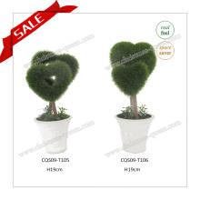 H4-8 Inches Hot Wholesale en plastique Artificial Topiary Garden Ornaments