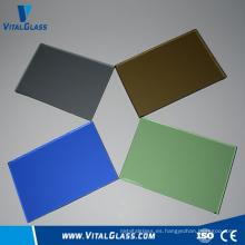 Vidrio de cristal templado modelado del color / cristal de la ventana / vidrio de flotador ultra claro