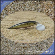 MNL045 10cm / 7g Plástico Duro Señuelo Pescado Negro Minnow