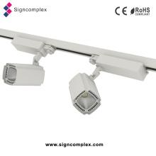 Luz 50W / 30W da trilha do diodo emissor de luz da ESPIGA do cidadão, luz alta da loja da trilha do diodo emissor de luz do CRI com Ce RoHS