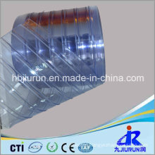 Plastic PVC Strip Curtain Sheet with Ribbed