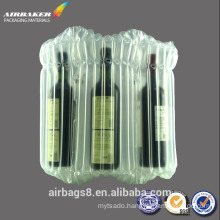 air bag bubble plastic packing bag for red wine protective column bag