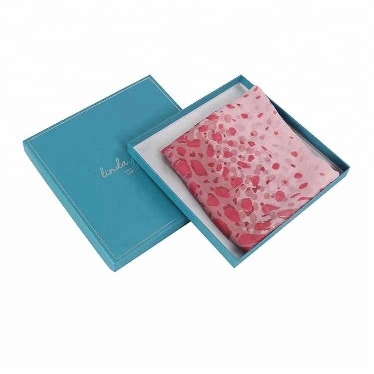 Square Paper Packing Style Gift Box For Scarf