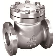 Válvula de retención de balanceo de brida de acero fundido ANSI