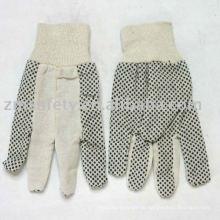 Baumwoll-Bohrhandschuh mit PVC-Punkten