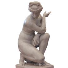 19th Century Venus white natural stone female figure sculpture marble italian statue
