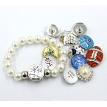 2016 браслет кнопки DIY браслета перлы кристаллический
