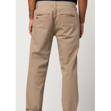 Heren slanke rechte stretch chino-broek