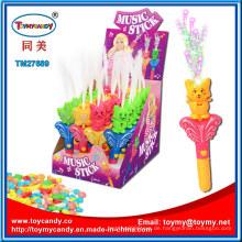 Kunststoff Katze Musical Griff Spielzeug mit Süßigkeiten Süßigkeiten