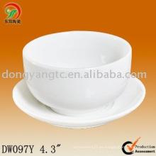 Logotipo personalizado solidificado cuencos y platos japoneses de cerámica