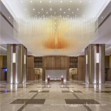 Lámpara de techo de barra KTV de hotel dorado
