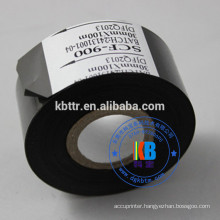 Black white stamping foil 30mm*122m date code hot ink ribbon