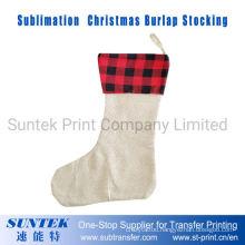 Sublimation Blank Christmas Decoration Burlap Stocking