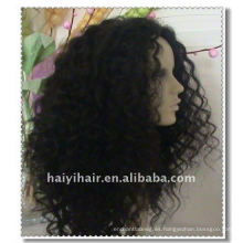 Pelucas de cabello humano indio Remy al por mayor del 100%