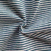 Maillot à rayures teintes en chanvre / coton (QF14-1462)