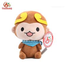 Custom Stuffed 20cm Cute Plush Monkey Toy with Scarf