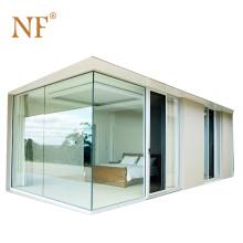 Aluminum house glass corner fire rated  window