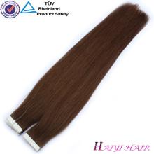 100 Double Drawn Extensions de Cheveux Humains attachés vierge indien remy cheveux weftension main liée vierge indien remy cheveux trame