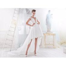 Hot Sale Hi-Low Lace Short Wedding Bridal Gown