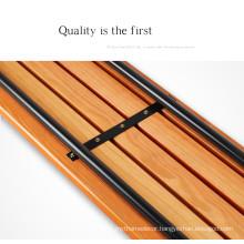 Low price 1.2meters  outdoor unbacked park chair from YUJIE factory
