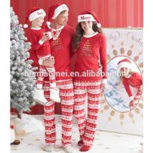 Wholesale Chine usine d'approvisionnement 100% coton pyjamas de noël enfants pyjamas de noël en couleur rouge et blanche