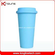Nice copo de café de silicone de 500 ml com Sillicone Band e Cover Maker (KL-CP003)