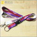 Id badge holder perpindahan panas satin warna-warni lanyard
