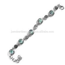 Beautiful Sky Blue Topaz Gemstone 925 Sterling Silver Bracelet Jewelry